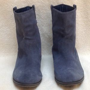 Mossimo | Blue Suede Booties